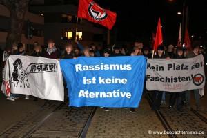 AfD in Feudenheim - Gegenprotest