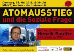 Henrik Paulitz: Atomausstieg und die Soziale Frage
